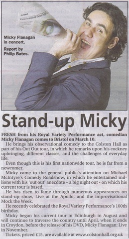 Micky Flanagan Mercury preview